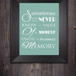 Value a moment